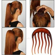 2Pcs Princess Inserts Hair Styling Clip Bumpits Bouffant Ponytail Comb Bun Maker