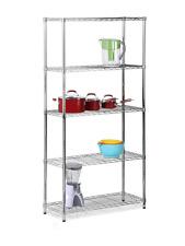 Honey-Can-Do 5-Shelf Steel Storage Shelving Unit, Chrome 72 H x 36 W x 14 D in.