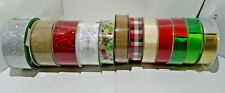 """Wire Edged Ribbon 50yds No Seams Continuous Roll 1.5"""" & 2.5"""" Several Varieties"""