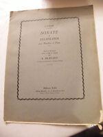 Partitura Sonata en Telemann para Oboe y Piano L Bleuzet