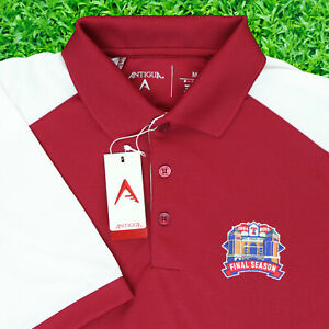 "Antigua Men Medium 42"" Texas Rangers Globe Life Field Final Season Polo Shirt"
