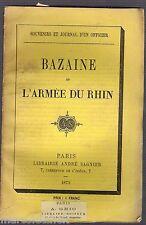 Bazaine et l'Armée du Rhin, Souvenirs et Journal d'Officier, Ex-Libris Puteaux