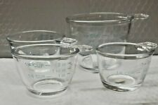 Set of 4 Small Glass Measuring Cups – Microwave & Dishwasher Safe (NIB)