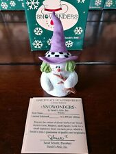 """1998 Sarah's Attic Snowonders October Snowman Figurine Green Hair Witch """"Witchy"""""""