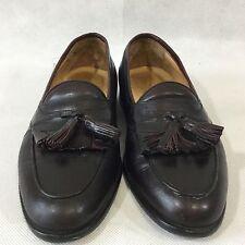 Johnston Murphy Cellini Tassel Loafer Dark Brown Kiltie Fringe Sz 10 M 59-30003