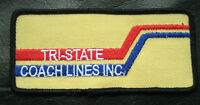 """TRI STATE COACH LINES EMBROIDERED SEW ON ONLY PATCH TRANSPORTATION 4 1/2"""" x 2"""""""