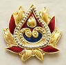 2 Hand-Embroidered Appliques Burgundy Deep Blue Gold Sewing DIY gold Bullion