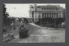 SINGAPORE ~ STREET VIEW, ANDERSON BRIDGE, ELECTRIC TROLLEY ~ RPPC dated 1935