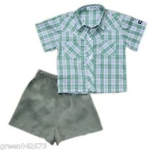 Oshkosh B'gosh Checkered Polo with Short Set (OCSS #2) - Size 6 months