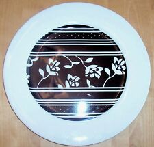 MoMo Accents Serving Plate Black + White
