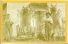 Real Photo Postcard RPPC Hunting Fishing Hunter Skins