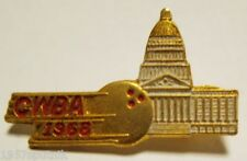 CWBA LEAGUE BOWL 1968 Bowling Alley HIGH SCORE / Tournament Attendance Pin GOLD