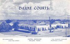 Abilene Texas Hotel Service DeLuxe Courts Vintage Postcard V5818