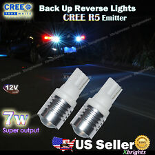 2pcs T10 Wedge CREE R5 Emitter 7W Super Bright Led Reverse Back up Lights
