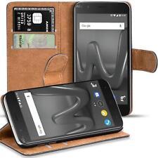 Handy Hülle für Wiko Harry Case Schutz Tasche Cover Basic Flip Schwarz Bookcase