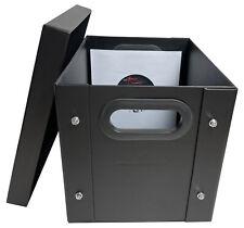 "1 CheckOutStore Black 7"" Vinyl Record 45 RPM Storage Box"