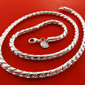 Necklace Chain Real 925 Sterling Silver SF Solid Heavy Bling Link Design 20""