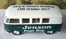 Wedding Day Personalised Page Boy Usher Name Gift Toy VW Camper Bus Wedding Car