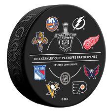 2016 NHL 16 Team Participant Stanley Cup Playoffs Souvenir Hockey Puck