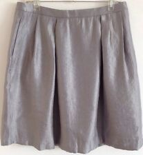 Size 14 Nine West Silver Keira Skirt NWT MSRP $79.50