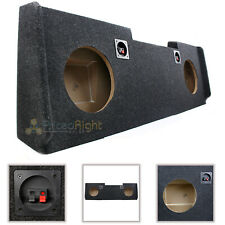 "Atrend 2014 Up GM Chevy Crew Cab Dual 10"" Sub Box Downfire Enclosure Amp Space"