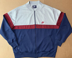 vintage nike track jacket XL Blue tag 80s Zip Up Windbreaker
