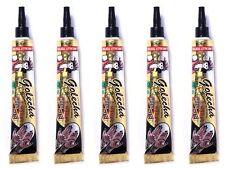 5 x Golecha Henna Paste Tube Schwarz 125g Basteln Malen Zeichnen Deko Indien WOW