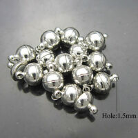 10X Silver/Gold Plated Round Ball Magnetic Clasps 6/8mm For Jewelry Making  SS