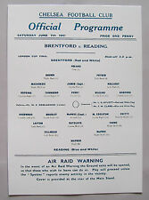 1941 London cup final programme Brentford v Reading in mint condition