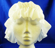 White Mob Cap Bonnet Victorian Maid Lady Fancy Dress