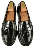 Cole Haan Mens 03506 Pinch Tassel Loafers Size 8D Black Leather Slip On Shoes