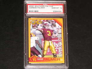 CARSON PALMER 2002 SOUTHERN CALIFORNIA CHP PSA 10 POP 2 ! RAREST ROOKIE CARD USC