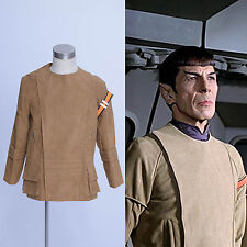 Star Trek The Motion Picture Spock Kirk Brown Jacket Suede Coat  Cosplay Costume