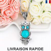 Collier Pendentif Hibou Chouette Strass Bijoux Femme Fille Cadeau Anniversaire