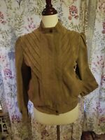 Wilson Womens Suede Leather Jacket Size 10