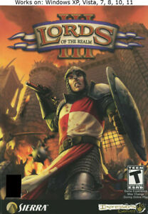 Lords of the Realm III 3 PC Game Windows XP Vista 7 8 10 11