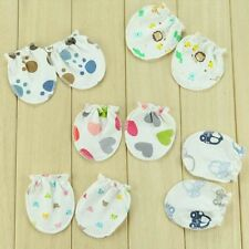 Thin Pair of Random Girl Baby Lovely Mittens Cotton AntiScratch Gloves 6 Months