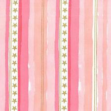 Metallic Stars & Stripes Pink  Michael Miller Fabric FQ +More 100%Cotton