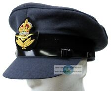 WW2 REPRO RAF ROYAL AIR FORCE OFFICERS PEAKED CAP AND BADGE 61cm
