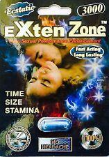 Exten Zone Ecstatic Male Sexual Enhancement Pills 3000mg 4 Pack