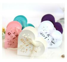 Laser Cut It is a Girl Candy Boxes Love Heart Shaped Wedding Favor with Ribbon