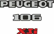 Peugeot 106 XSi replacement badges rear decals stickers