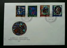 Switzerland Stained Glass Windows Art 1970 Culture (stamp FDC) fresh condition