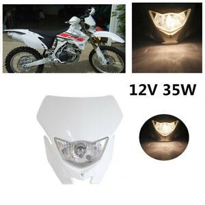 White Motocross Off Road Headlight Fairing For Yamaha WR450F YZ YZF TW TTR DR RM