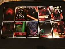 2015 Chrome Topps Star Wars Archives Of Sith Sp Set 1-10 Perspectives Sith