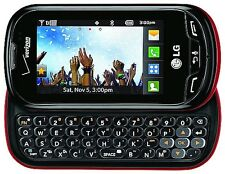 LG Extravert VN271 Black/Red (Verizon)(Page Plus) QWERTY Slider Cell Phone