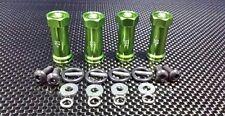 Traxxas Slash 4X4 Upgrade Parts Aluminum Hex Adaptor (+25mm) - 4 Pcs Set Green