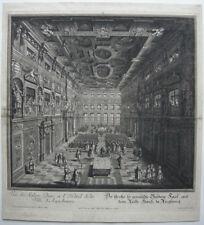 Rathaus Augsburg Godener Saal Orig Kupferstich Salomon Kleiner 1730 Elias Holl