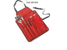 Grembiule Per Barbecue Con Tasche Completo di 6 Accessori Cod. GR110/6 Ompagrill