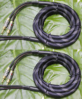 Pair 10AWG Audiophile Hiend HiFi AMP Nakamichi Locking Banana Speaker Cable Wire